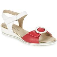 Zapatos Mujer Sandalias Pitillos MERVA Blanco / Rojo