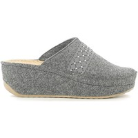 Zapatos Mujer Pantuflas Grunland CI1079 Slippers Mujeres Anthracite Anthracite