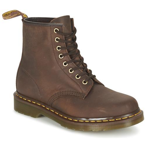 Botas Zapatos Martens Baja Marrón 1460 De Caña Dr iOPkuZTX