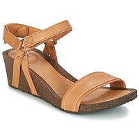 Zapatos Mujer Sandalias Teva YSIDRO STITCH WEDGE Cognac