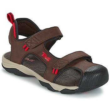 Zapatos Niño Sandalias de deporte Teva TOACHI 4 Marrón / Negro / Rojo