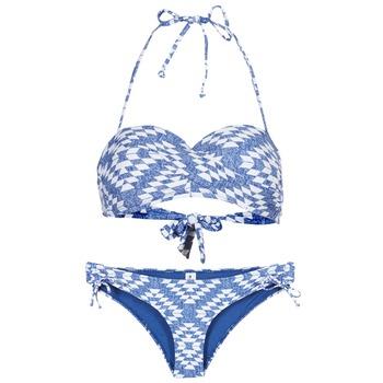 textil Mujer bikini Rip Curl DEL SOL BANDEAU SET Azul / Blanco