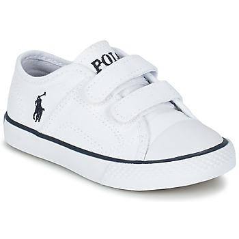 Zapatos Niños Zapatillas bajas Ralph Lauren DYLAND EZ Blanco