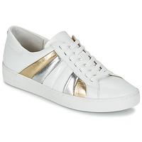 Zapatos Mujer Zapatillas bajas MICHAEL Michael Kors CONRAD SNEAKER Blanco / Oro / Plateado