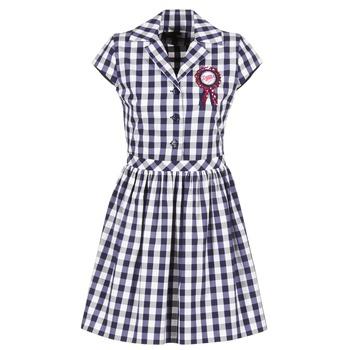 textil Mujer vestidos cortos Love Moschino WVF3001 Azul / Blanco