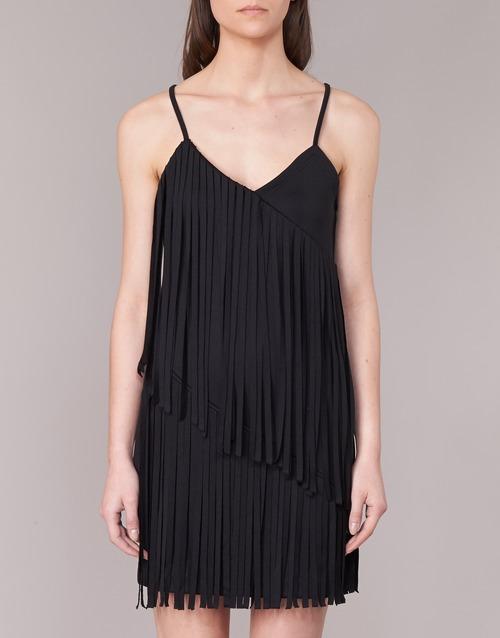 Love Mujer Textil Moschino Cortos W595800 Negro Vestidos tshrQxdC