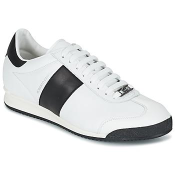 Zapatos Hombre Zapatillas bajas Roberto Cavalli 2042C Blanco / Negro
