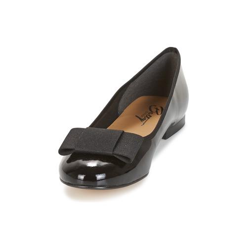 Mujer Bailarinas Zapatos Florette London Negro manoletinas Betty E9IWDH2