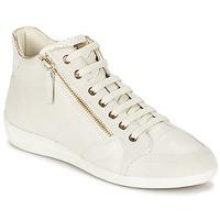 Zapatos Mujer Zapatillas altas Geox MYRIA Blanco