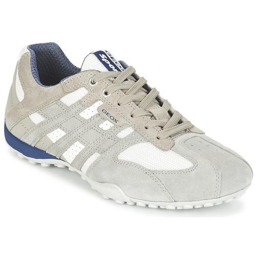Zapatos especiales para hombres y mujeres Geox SNAKE Gris / Blanco