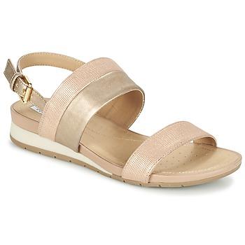 Zapatos Mujer Sandalias Geox D FORMOSA C Rosa / Oro