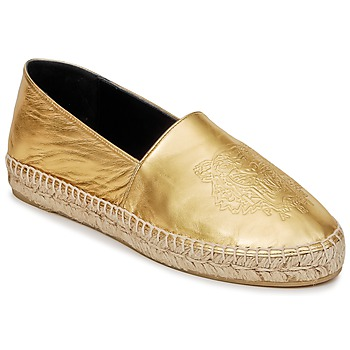 Zapatos Mujer Alpargatas Kenzo TIGER METALIC SYNTHETIC LEATHER Oro
