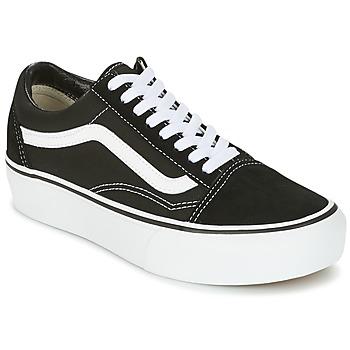 Zapatos Mujer Zapatillas bajas Vans UA OLD SKOOL PLATFOR Negro / Blanco