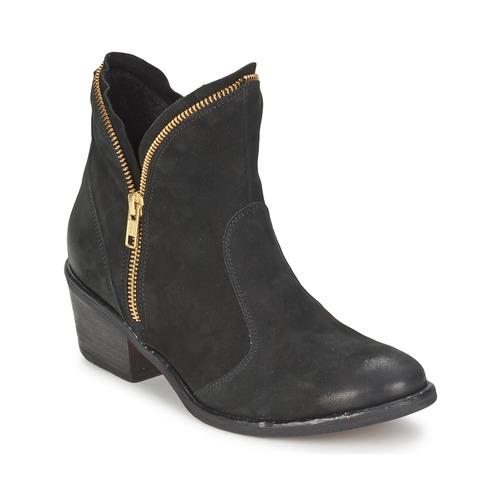 Zapatos Mujer Botas de caña baja Casual Attitude LALE Negro
