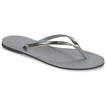 Zapatos Mujer Chanclas Havaianas YOU METALLIC Gris