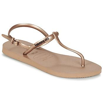 Zapatos Mujer Sandalias Havaianas FREEDOM Rosa / Oro