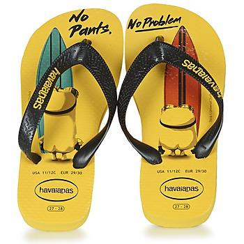 Zapatos Niños Chanclas Havaianas KIDS MINIONS Amarillo / Negro