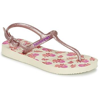 Zapatos Niña Chanclas Havaianas KIDS FREEDOM PRINT Beige / Rosa