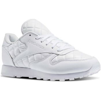 Zapatos Mujer Zapatillas bajas Reebok Sport Classic Leather Quilted Pack Blanco