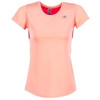 textil Mujer camisetas manga corta New Balance ACCELERATE T Coral