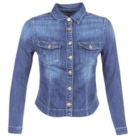 textil Mujer chaquetas denim Le Temps des Cerises LILLYM Azul / Medium
