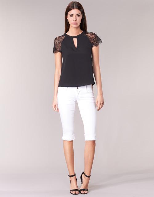 textil Mujer Pantalones cortos Le Temps des Cerises NINA Blanco