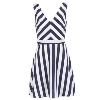textil Mujer vestidos cortos Molly Bracken TRODAK Marino / Blanco