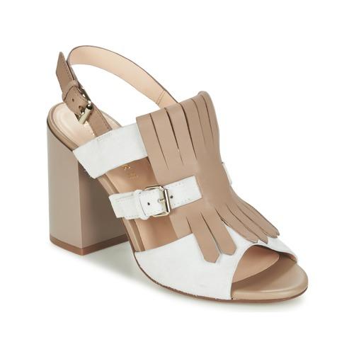 Zapatos Mujer Sandalias Café Noir GONFERT Gris / Beige