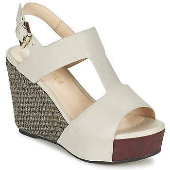 Zapatos Mujer Sandalias Café Noir CHANVIO Beige