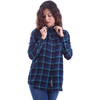 textil Mujer Tops / Blusas Superdry G40001ON Camisa Mujeres Azul Azul