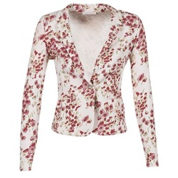 textil Mujer Chaquetas / Americana Les P'tites Bombes OSIDOULE Blanco / Rojo