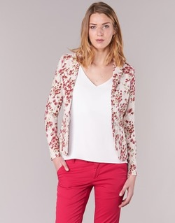 textil Mujer Chaquetas / Americana Les P'tites Bombes OSIDOULE Blanco / Rojo