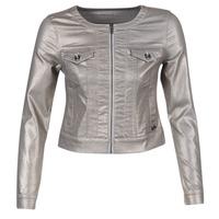 textil Mujer chaquetas denim Les P'tites Bombes OMILATE Plata