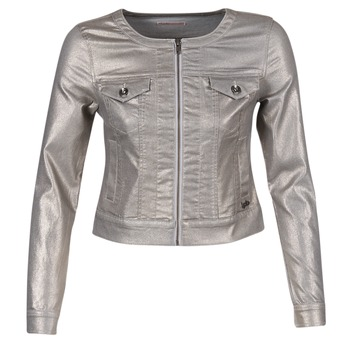 textil Mujer chaquetas denim Les P'tites Bombes OMILATE Plata