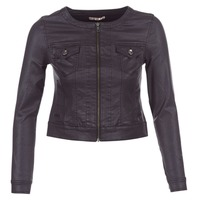 textil Mujer chaquetas denim Les P'tites Bombes OMILATE Negro