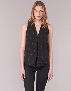 textil Mujer Tops / Blusas Les P'tites Bombes MERVINE Negro / Rojo