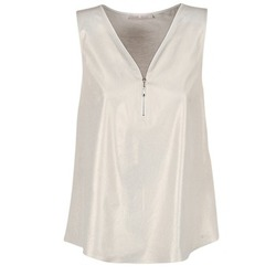 textil Mujer Tops / Blusas Les P'tites Bombes LOUVALE Blanco / Oro