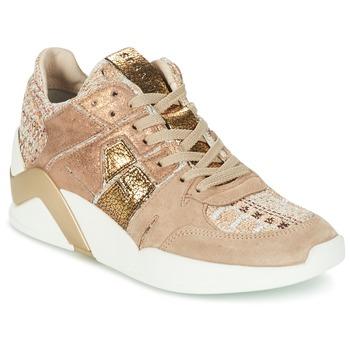 Zapatos Mujer Zapatillas altas Serafini CHICAGO Beige / Oro