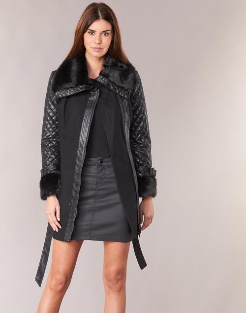 Spartoo Negro Morgan Textil Gefrou Abrigos Con Gratis Envío es B1Xw1