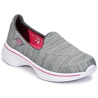 Zapatos Niña Slip on Skechers GO WALK 4 Gris