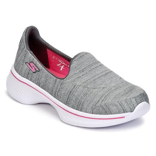 Zapatos Niña Slip on Skechers GO WALK 4 Gris