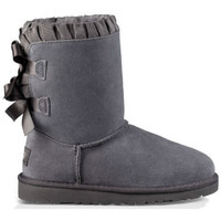 Zapatos Mujer Botas de caña baja UGG Botas K BAILEY BOW RUFFLES Gris