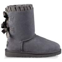 Zapatos Mujer Botas de caña baja UGG Botas K BAILEY BOW RUFFLES KIDS Gris