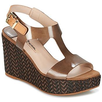 Zapatos Mujer Sandalias Spiral PAULA Marrón