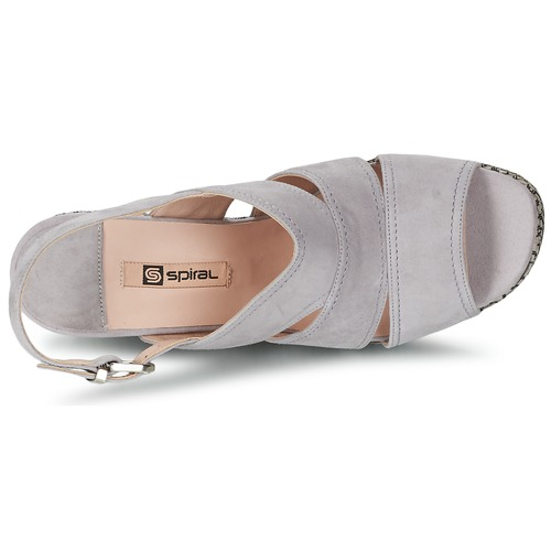 Mujer Spiral Gris Sandalias Zapatos Paula shtrQdC