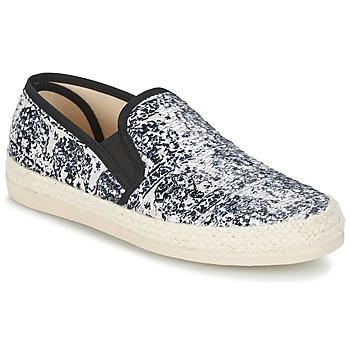 Zapatos Mujer Alpargatas Spiral VIRGINIA Negro / Blanco