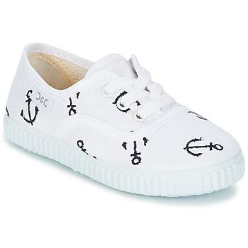 Zapatos Niños Zapatillas bajas Citrouille et Compagnie KIPPI BOU Blanco / Azul