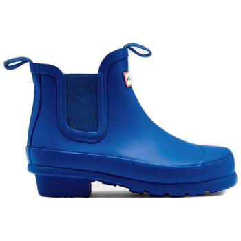 Zapatos Mujer Botas de agua Hunter ORIGINAL KIDS CHELSEA Azul
