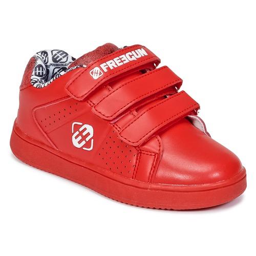 Zapatos Niños Zapatillas bajas Freegun FG ULSPORT Rojo / Blanco