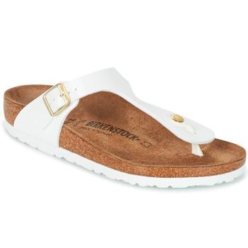 Zapatos Mujer Chanclas Birkenstock GIZEH Blanco / Oro
